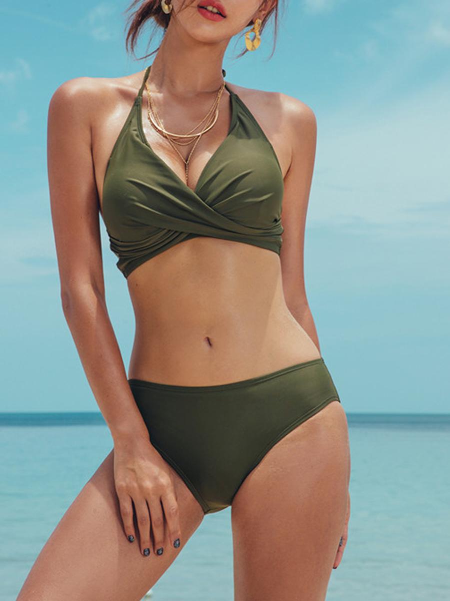Halter Plain Bikini