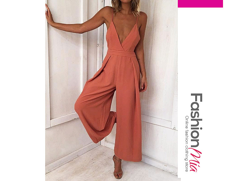Backless  Wide-Leg Casual Pants For Women