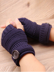 Knitted Half Finger Winter Gloves Fingerless  Mitten