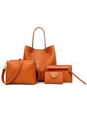 Three Pieces PU Shoulder Bag