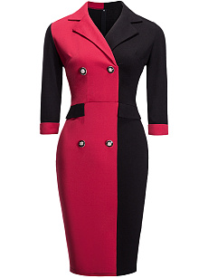 Plus size online V Neck Twist Front Long Sleeve Burgundy Dress qatar queensgate