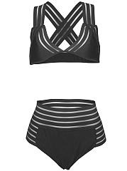 V-Neck-See-Through-Plain-Bikini