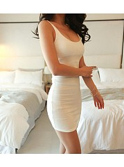 Plainspaghetti Strap Bodycon Dress For Women
