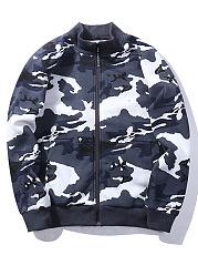 Band-Collar-Camouflage-Fleece-Lined-Men-Bomber-Jacket