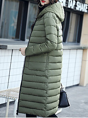 Hooded  Two Way  Letters Coat