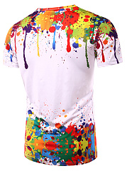 Round Neck  Printed  Short Sleeve Short Sleeves T-Shirts