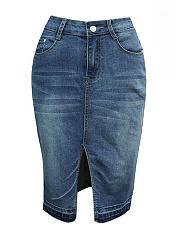 Slit-Denim-Pencil-Midi-Skirt