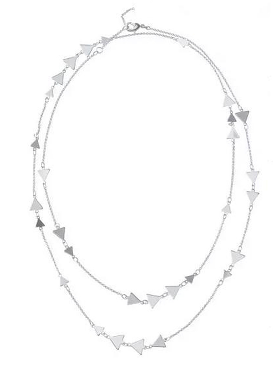 Solid Long Chain Triangle Necklace