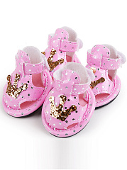 Crown Glitter Dog Cat Sandal