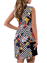 Abstract Print Plus Size Bodycon Dress