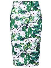 Floral-Printed-Slit-Pencil-Midi-Skirt