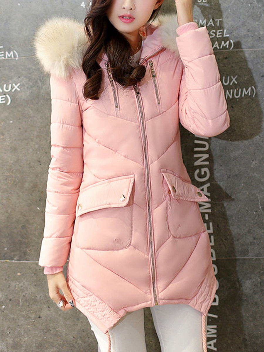 Hooded Flap Pocket Quilted Padded Coat - fashionMia.com : quilted padded coat - Adamdwight.com