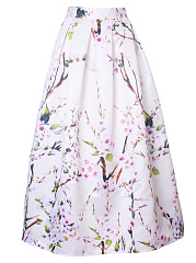 Floral-Printed-Inverted-Pleat-Flared-Maxi-Skirt