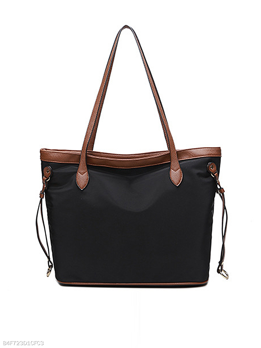 Simple Contrast Trim Shoulder Bags