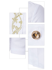 Turn Down Collar  Embroidery  Short Sleeve Short Sleeves