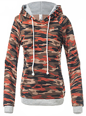 Camouflage-Rib-Knit-Cuffs-Hoodie