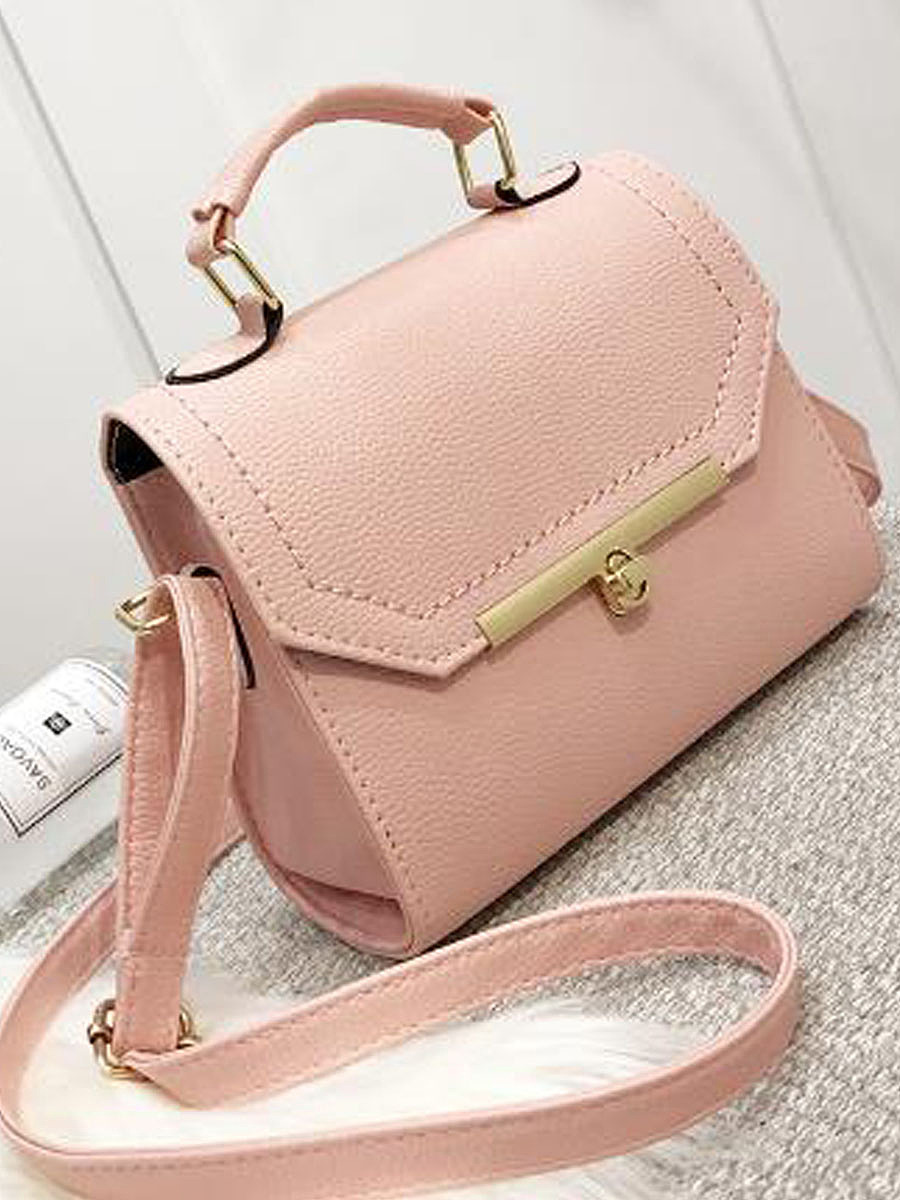 Chic Simple Stylish Candy Color Crossbody Bag