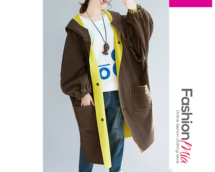 gender:women, hooded:yes, thickness:regular, brand_name:fashionmia, outerwear_type:coat, style:casual,fashion,japan & korear, material:polyester, collar&neckline:hooded, sleeve:long sleeve, embellishment:slit pocket, more_details:decorative button, supplementary_matters:all dimensions are measured manually with a deviation of 2 to 4cm., occasion:basic,casual,daily, season:autumn,winter, package_included:top*1, lengthsleeve lengthbust