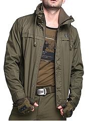 Hooded-Pocket-Plain-Men-Coat