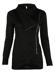 Cowl-Neck-Zips-Plain-Sweatshirts