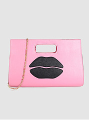 Sexy Mouth Pu Hand Bag