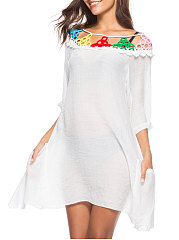 Plain Extra Short Sleeve Tunic For Women