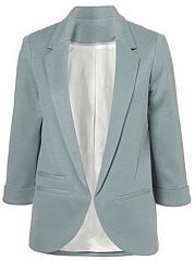 Basic Notch Lapel Plain Blazer