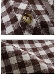 Men Patch Pocket Check Long Sleeve Shirts