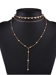 Alloy Star Layers Choker Necklace