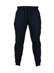 Workout-Elastic-Waist-Plain-Slim-Leg-Mid-Rise-Mens-Casual-Pant