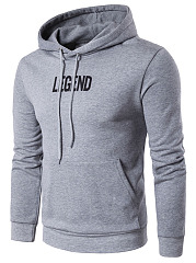 Kangaroo Pocket Legend Printed Men Hoodie