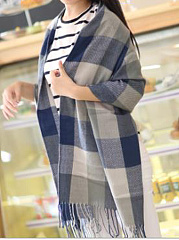Lady Fashion Cotton  Plald Scarves