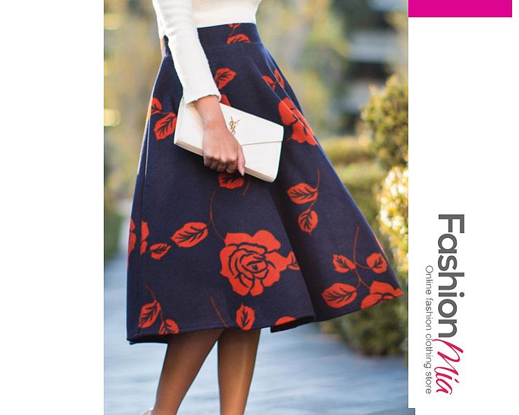 Floral Printed Midi Skirts