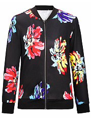 Band-Collar-Floral-Printed-Bomber-Jacket