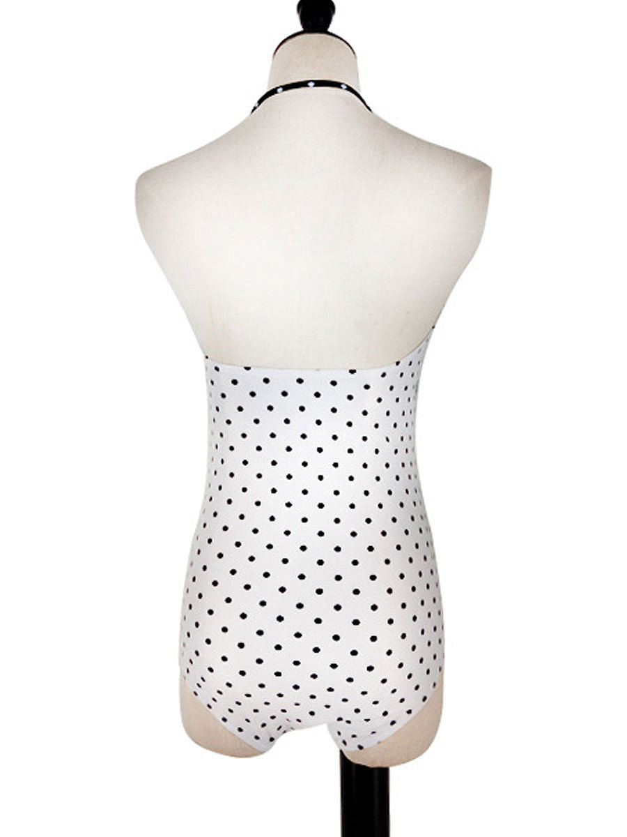 2018 New Style Polka Dot One Piece