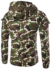 Hooded Camouflage Fleece Lined Men Jacket