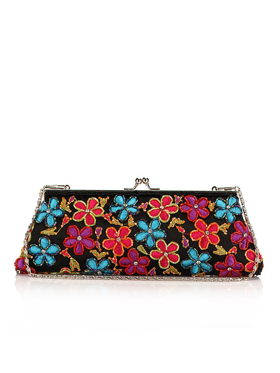 Beading Floral Embroidery Two Way Clutch