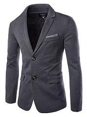 Notch-Lapel-Flap-Pocket-Color-Block-Men-Blazer