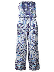 Backless  Multi-Way  Abstract Print Printed  Pegged  High-Rise Casual Pants