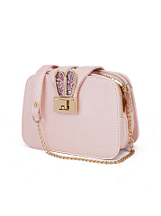 Bunny Shape Pu Leather Crossbody Bag