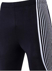 Color Block  Pegged  Mid-Rise Men's Casual Pants