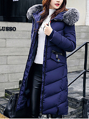 Hooded Quilted Longline Pocket Padded Coat