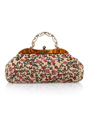 Floral Embroidery Vintage Clutch Bag