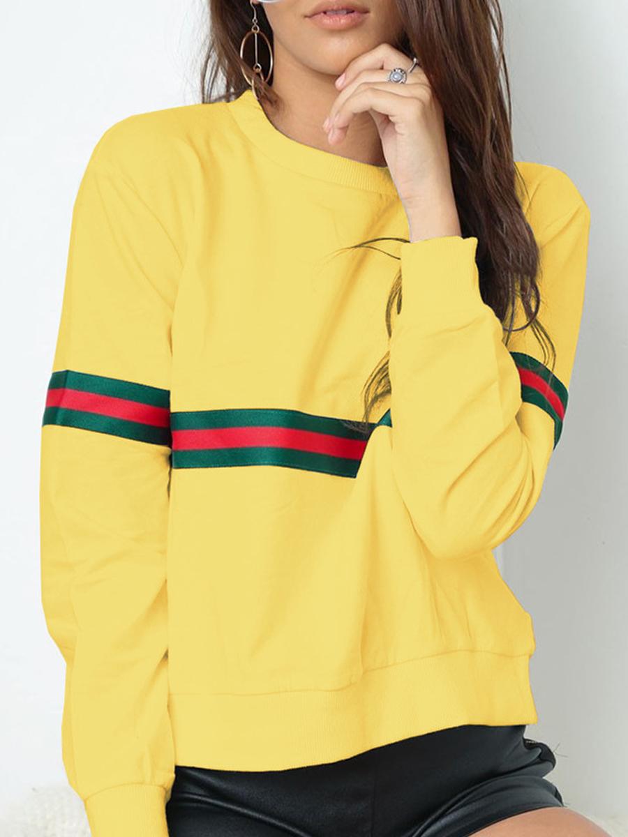Round Neck Colouring Long Sleeve Sweatshirts