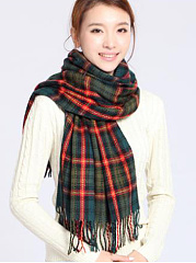 Winter Fashion Cotton Plald Scarves