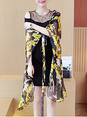 Round Neck  Two Way  Printed Maxi Dress