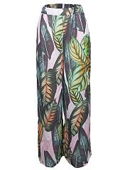 Tropical-Leaf-Printed-Elastic-Waist-Wide-Leg-Casual-Pants