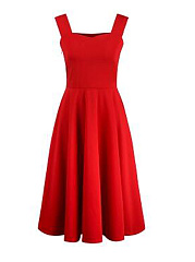 Collarless-Plain-Polyester-Evening-Dresses