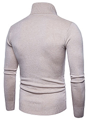 Turtleneck  Plain Men'S Sweater