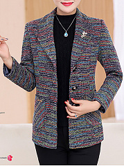 Lapel  Patch Pocket Single Breasted Coat